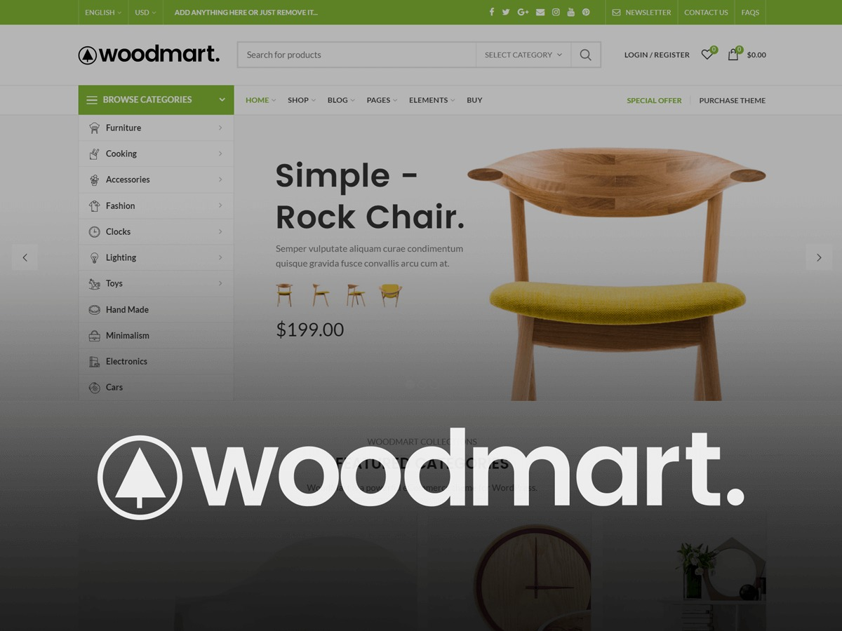 Woodmart template WordPress