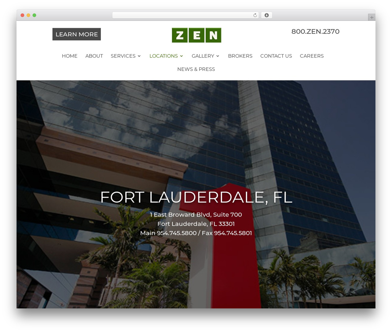 WordPress theme Divi - zen-offices.com/office-space-fort-lauderdale