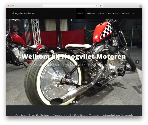 WordPress website template MotoBlog - hoogvlietmotoren.nl