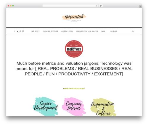 WordPress website template Oliver - nutsovertech.com