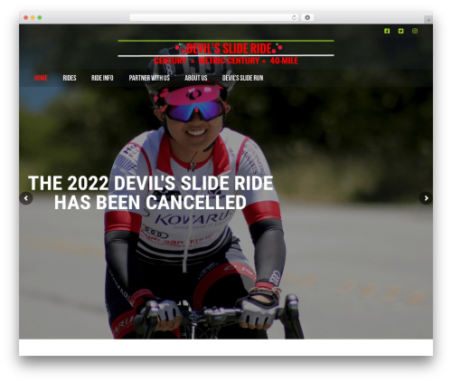 AllStar WordPress page template - devilsslideride.org