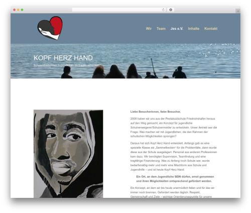 Aspen Roots WordPress page template - kopfherzhand.com