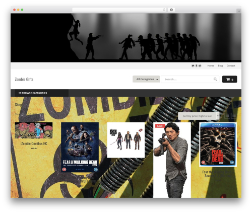 Astore WordPress store theme - zombiegifts.co.uk