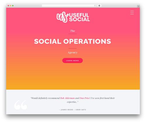 Astra WordPress website template - useful.social