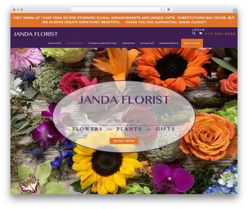 AWI premium WordPress theme - jandaflorist.com