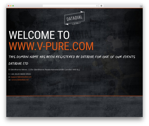 Best WordPress template Prima by datadial - v-pure.com