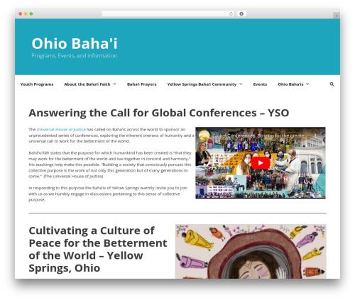 Best WordPress theme GeneratePress - ohiobahai.org