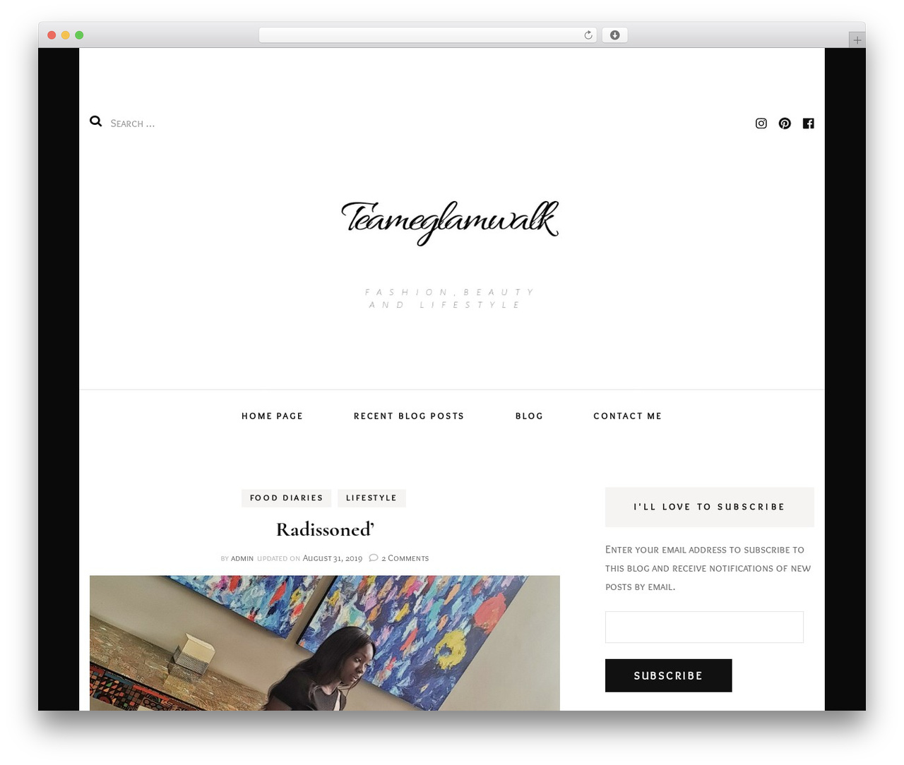 Blossom Fashion premium WordPress theme - teameglamwalk.com