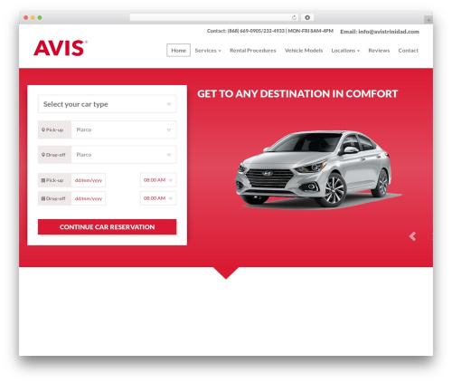 Car Rental motors WordPress theme - avistrinidad.com
