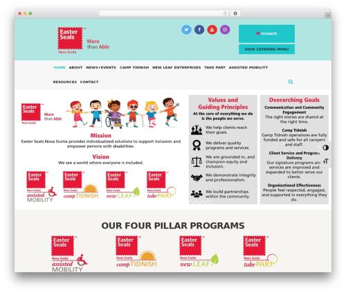 Charity Is Hope best WordPress template - easterseals.ns.ca