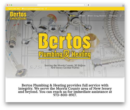 Divi company WordPress theme - bertosplumbing.com