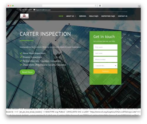 Divi WordPress theme design - carterhomeinspection.com