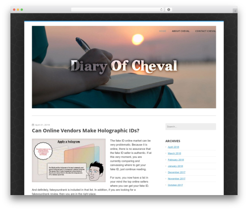 Enterprise Lite WP template - cheval-gevaudan.com
