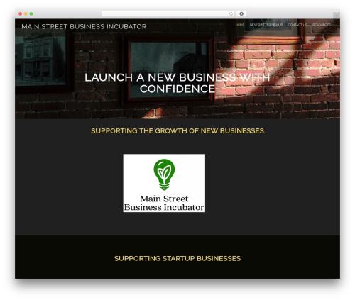 Evolv WordPress template for business - mainstreetbusinessincubator.com