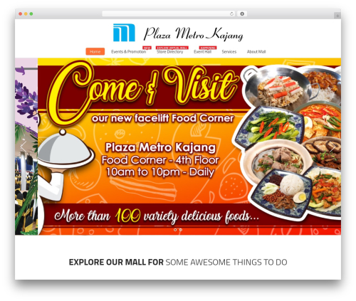 Mall WordPress theme - plazametrokajang.com