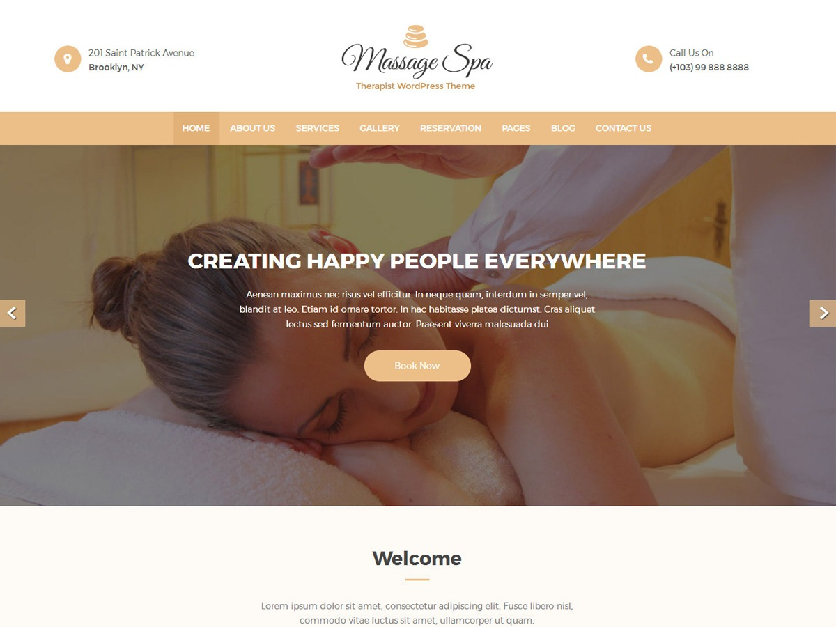 Massage Clean WordPress ecommerce template