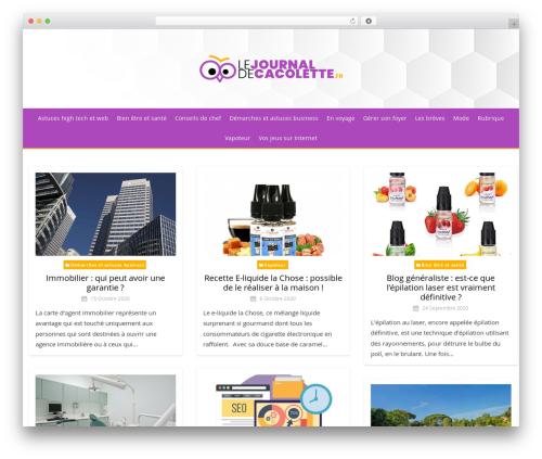 Miteri theme WordPress - lejournaldecacolette.fr