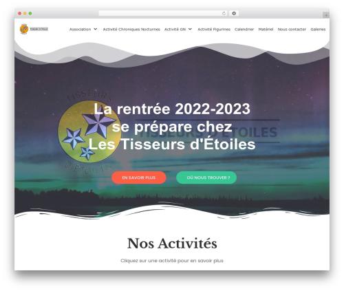 neve premium WordPress theme - tisseursdetoiles.com