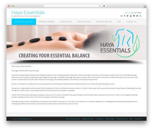 Oceanic Premium WordPress theme design - hayaessentials.com