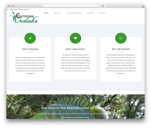 Ri Charitable premium WordPress theme - centeringonalaska.com