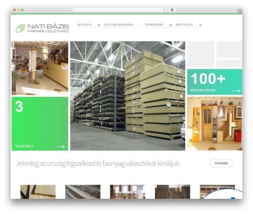 Salient WordPress page template - natikft.hu