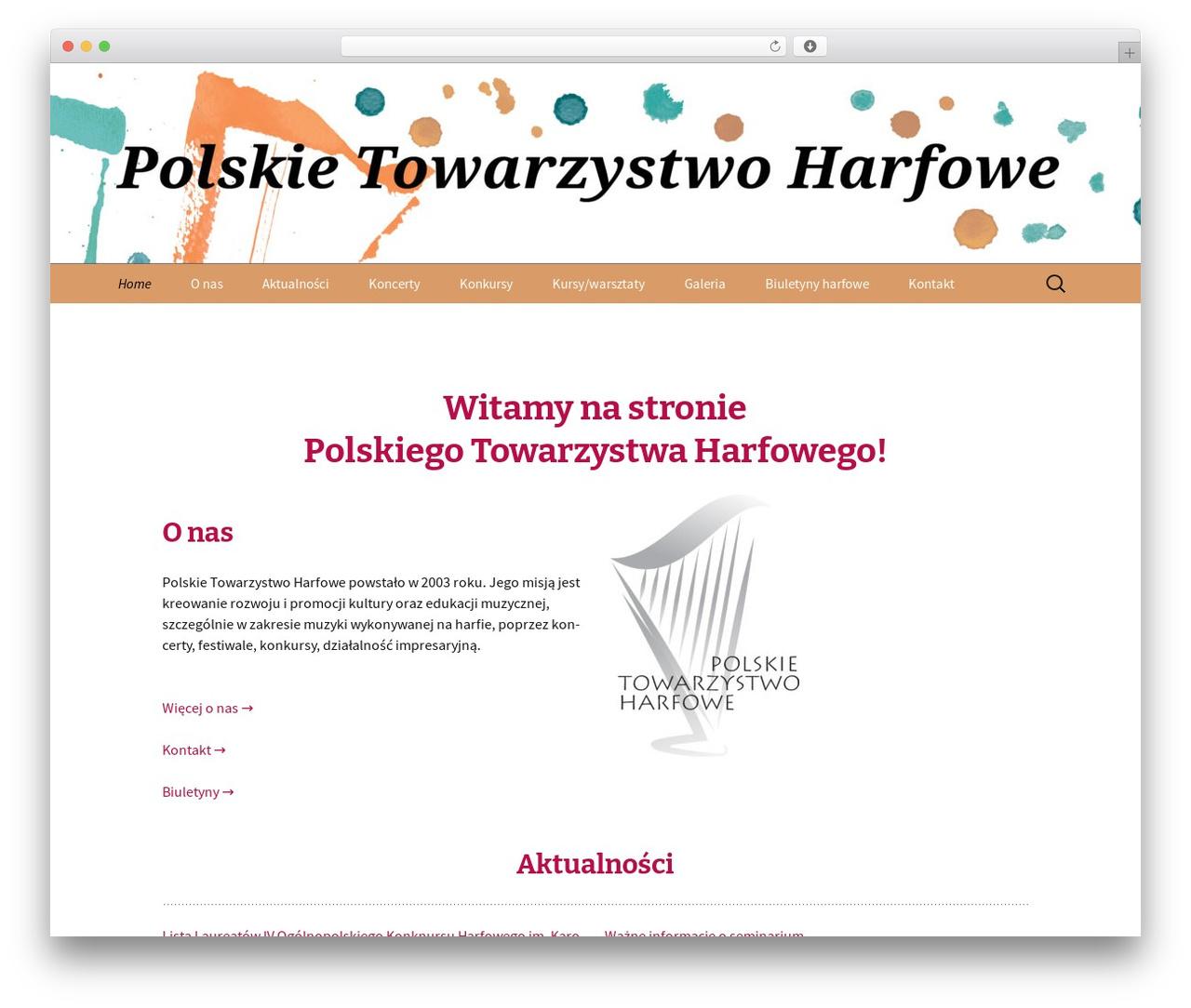 Twenty Thirteen free WordPress theme - harfa.pl