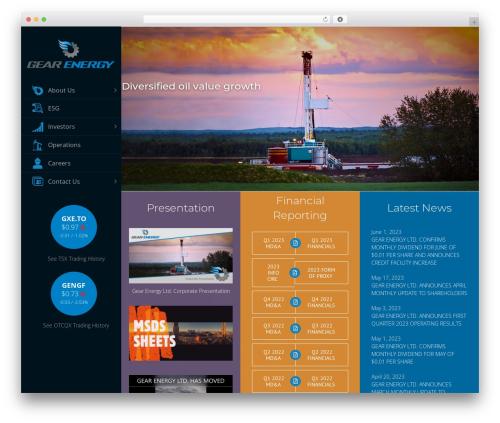 WordPress theme Avada - gearenergy.com