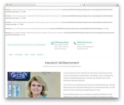 WordPress theme Dental Care - zahnarzt-eisenberg.de