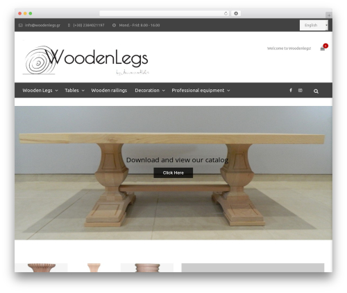 WordPress theme Yolo Sofani - woodenlegs.gr