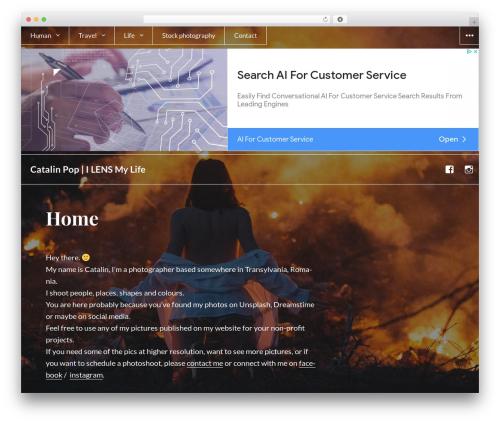WordPress website template Afterlight - catalinpop.ro