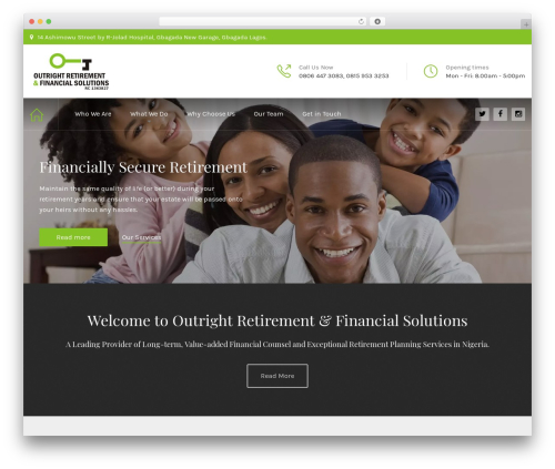 WordPress website template HnK Child - outrightretirement.com