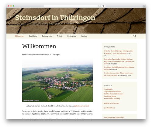 WordPress website template Twenty Thirteen - xn--steinsdorf-thringen-ibc.de