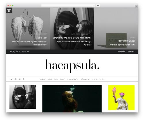Zeen WordPress theme - hacapsula.com