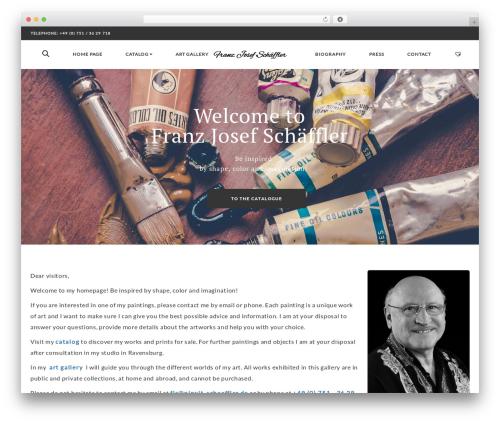 Artday WordPress website template - pinxit-schaeffler.de