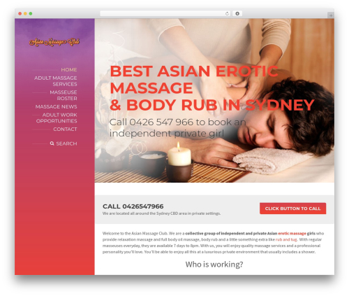 BeautySpot massage WordPress theme - asianmassageclub.com