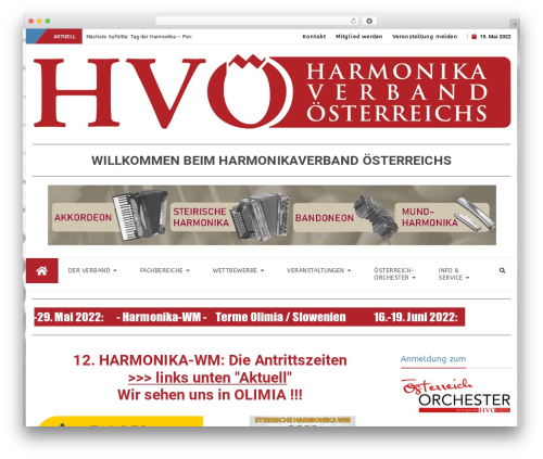 bFastMag Pro WP theme - harmonikaverband.at