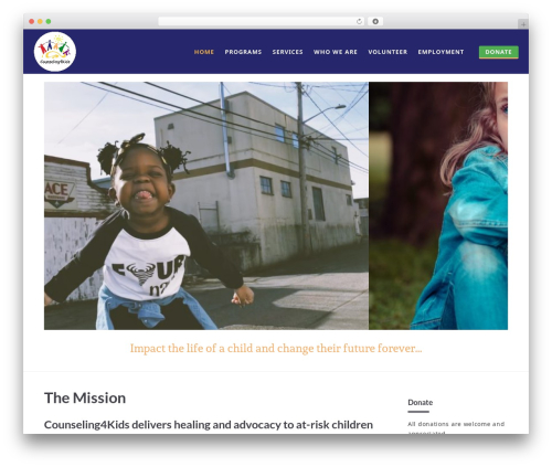 Blade theme WordPress - counseling4kids.org