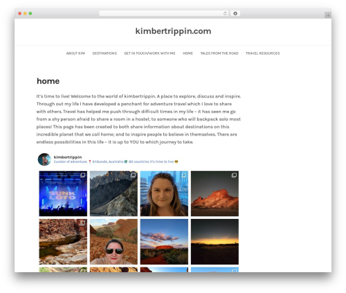 BlogFeedly WordPress blog theme - kimbertrippin.com