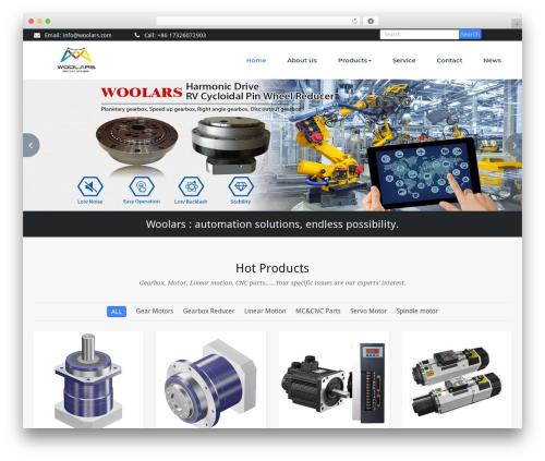 BusiProf Pro top WordPress theme - woolars.com
