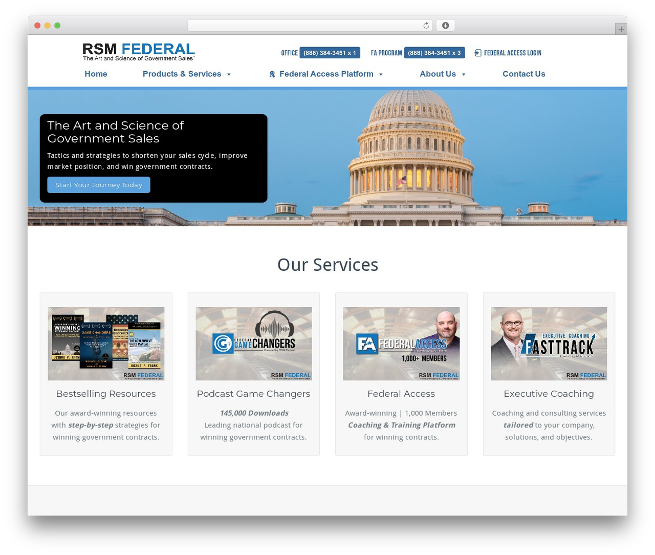 BusiProf Pro WordPress template for business - rsmfederal.com