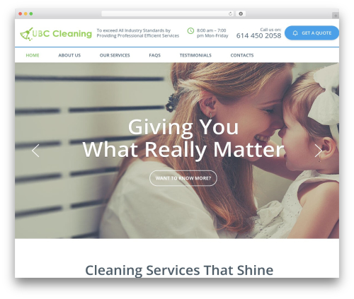 Cleaning Services WordPress theme - ubccleaning.com