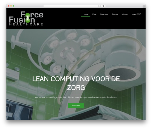 Corporate Plus Pro WordPress theme - forcefusionhealthcare.com