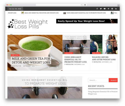 Daily Magazine best WordPress magazine theme - bestweightlosspills.com