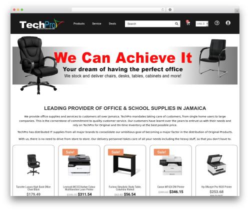 Divi company WordPress theme - techproja.com