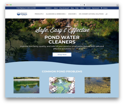 Divi top WordPress theme - healthyponds.com
