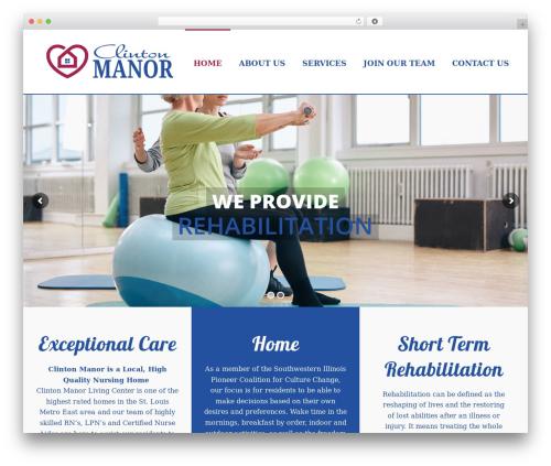 Jupiter WordPress template - clintonmanorlivingcenter.com