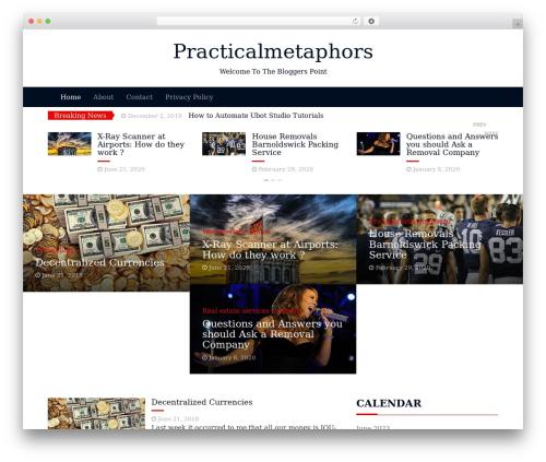 Magazine Blog WordPress template - practicalmetaphors.com