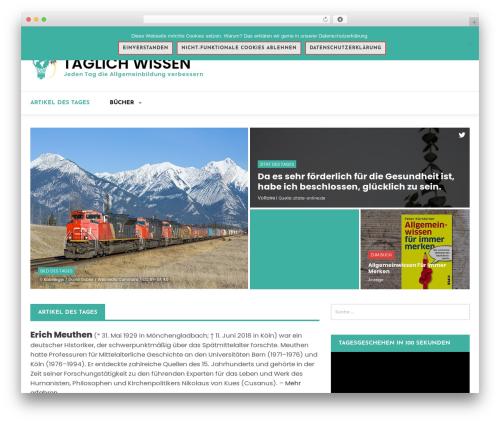 Magazine O WordPress news theme - taeglich-wissen.de