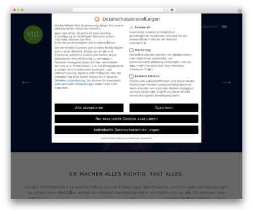 Mies WordPress theme - ktd.agency