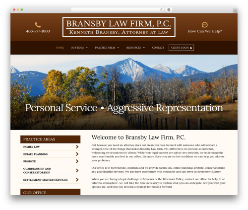 My Case Modern WordPress template for business - bransbylaw.com